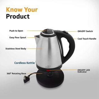 V-Guard Steel Kettle