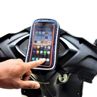 JETLIFE Mobile Holder Mount Pouch-Bag for Scooter Activa Scooty