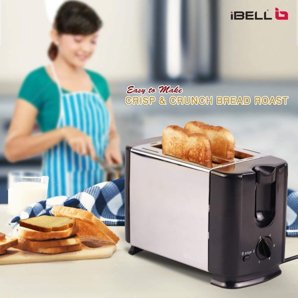 IBELL SS70B 700-Watt Bread Toaster With Mid Cycle Heating