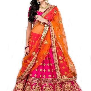 Women's Satin Lehenga Choli