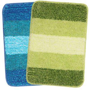 Saral Home Turquoise & Green Soft Microfiber Bath Mat