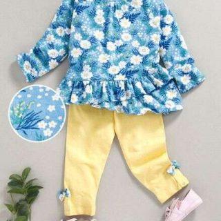 Floral Printed Top & Leggings -