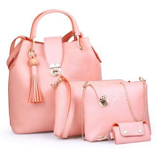 Women's Shoulder Bag Pink color