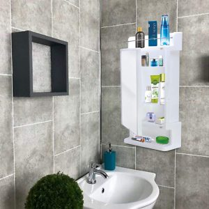 Ciplaplast Strong and Heavy Rich Look Cabinet with Mirror - White