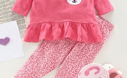 Babyhug Top & Lounge Pant Kitty Patch
