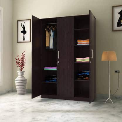 Perfect Homes Julian Engineered Wood 3 Door Wardrobe