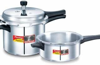 Prestige Popular Plus 3 L, 2 L Induction Bottom Pressure Cooker