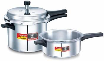 Prestige Popular Plus 3 L, 2 L Induction Bottom Pressure Cooker