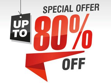 Save upto 80% off