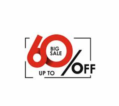 Save upto 60% off